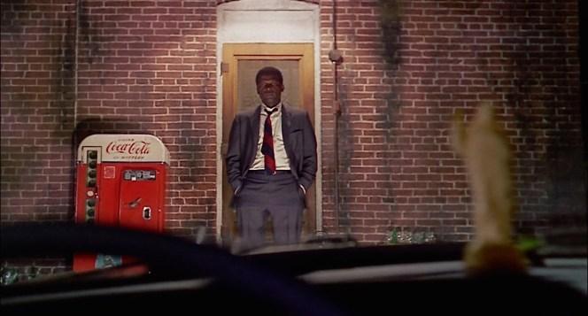 Tibbs greets Sam Wood's patrol car before a long, late-night investigation.