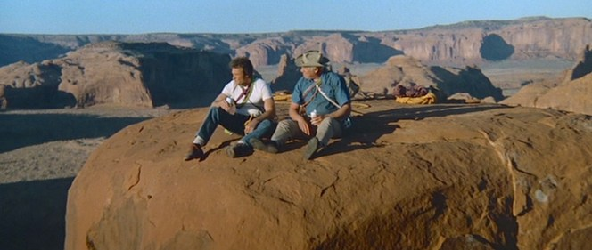 Eastwood has stated that sitting atop the Totem Pole in Monument Valley, the location for many of John Ford's famous Westerns, remains one of his fondest filmmaking memories.