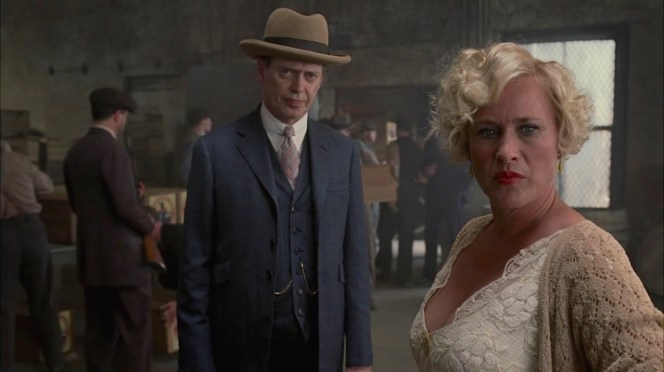 "Steve Buscemi and Patricia Arquette in ""The Old Ship of Zion"" (Episode 4.08)."