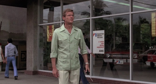 Roger Moore in The Man with the Golden Gun (1974)