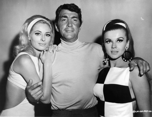 Dean Martin with his co-stars Camilla Sparv and Ann-Margret on the set of Murderers' Row (1966).