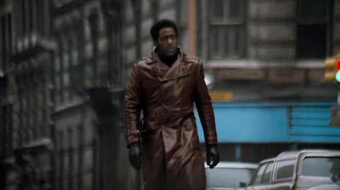 Recently hired by Bumpy Jonas, Shaft hits the streets.