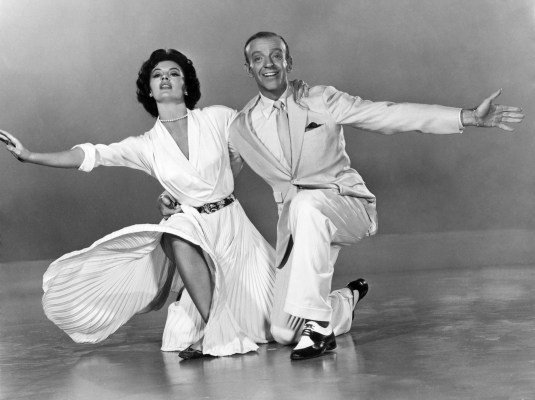 Promotional photo of Cyd Charisse and Fred Astaire for The Band Wagon.