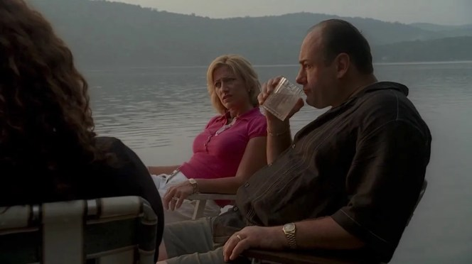 """Nothing livens up a comfortable night by the lake like talking about a """"brain dead"""" three-year-old floating in a swimming pool. The Sopranos really know how to party!"""
