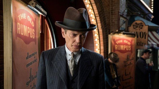 "Production still of Steve Buscemi as ""Nucky"" Thompson in ""Eldorado"", the series' final episode."