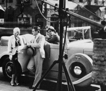 Harlow, Woods, and Cagney behind the scenes.