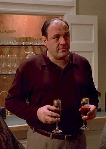 "James Gandolfini as Tony Soprano on The Sopranos (Episode 3.09: ""The Telltale Moozadell"")"