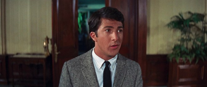 As illustrated here by Dustin Hoffman, knit ties are a fantastic complement for a coarsely textured jacket like Benjamin's herringbone tweed.