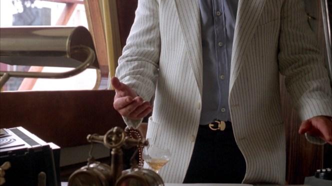 Harold's belt.