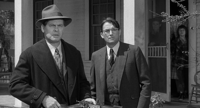 The cooler weather calls for heavier clothes, be that a shawl-collar peacoat for Sheriff Tate or a more businesslike flannel suit for the office-bound Atticus Finch.