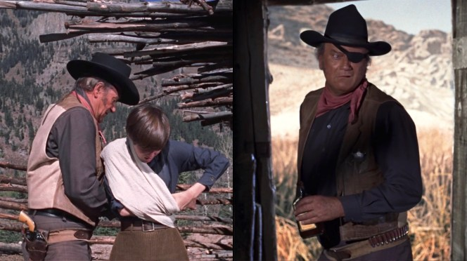 The curling at the top of Rooster's gun belt suggests that it was made by folding a wide strip of roughout leather in half, leaving the top open to serve as an improvised money belt, if needed.