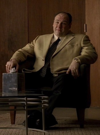 "James Gandolfini as Tony Soprano on The Sopranos (Episode 6.20: ""The Blue Comet"")"