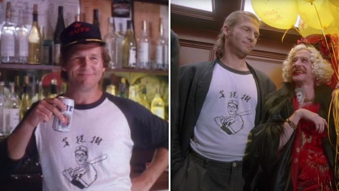 Bridges rocks his Betto tees in Cold Feet (1989) and The Fisher King (1991).
