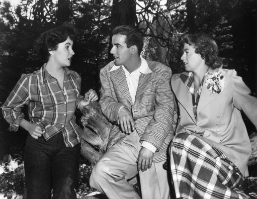Elizabeth Taylor, Montgomery Clift, and Shelley Winters