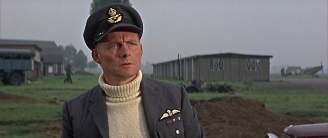 Earlier in the film, Skipper hasn't yet earned his DFC.