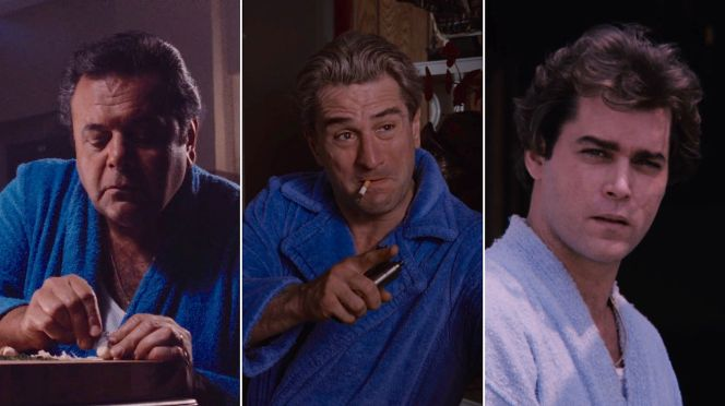 Paulie, Jimmy, and Henry model their respective terry cloth robes over the course of Goodfellas. Who wore it best?