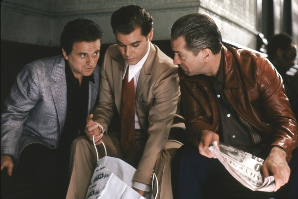 Pesci, Liotta, and De Niro in Goodfellas.