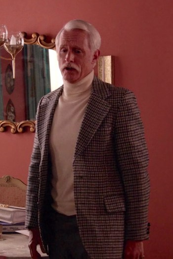 "John Slattery as Roger Sterling on Mad Men (Episode 7.14: ""Person to Person"")"
