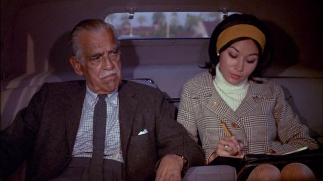 Nancy Hsueh and Boris Karloff in Targets (1968)