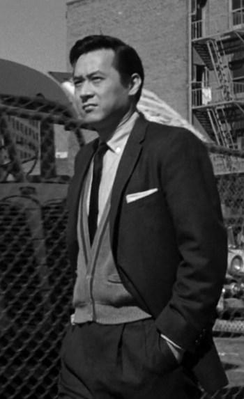 James Shigeta as Detective Joe Kojaku in The Crimson Kimono (1959)