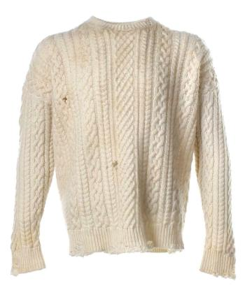 Chris Evans' screen-worn sweater by The Kooples, as auctioned on eBay earlier this year.