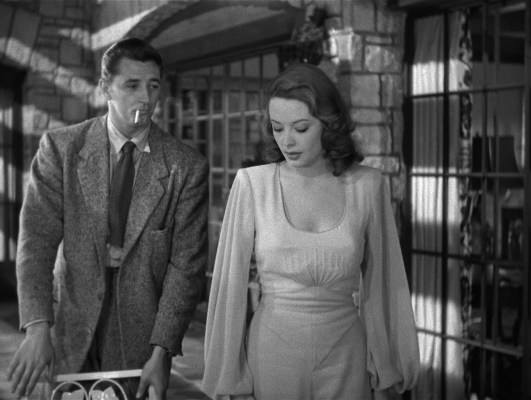 Robert Mitchum and Jane Greer in Out of the Past (1947)