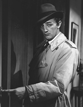 Robert Mitchum as Jeff Markham in Out of the Past (1947)