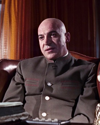 Telly Savalas as Ernst Stavro Blofeld in On Her Majesty's Secret Service (1969)