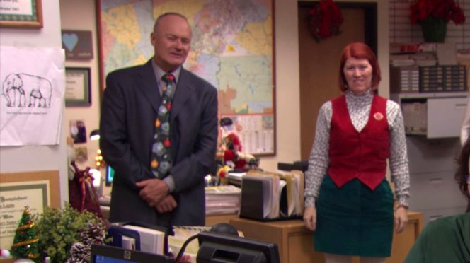 Creed Bratton and Kate Flannery in The Office