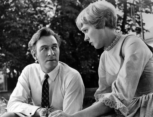 Christopher Plummer and Julie Andrews filming The Sound of Music (1965)