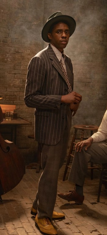 Chadwick Boseman in Ma Rainey's Black Bottom (2020). Photo by David Lee/Netflix.
