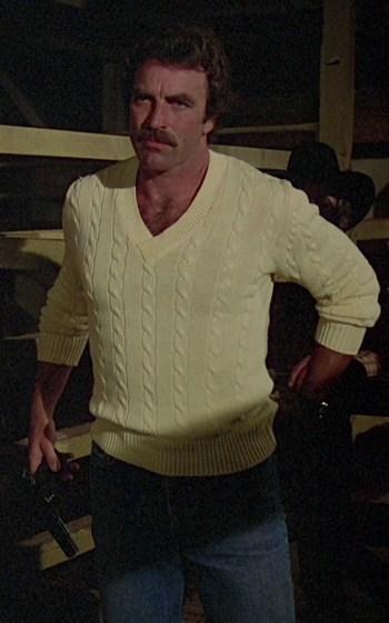 "Tom Selleck as Thomas Magnum on Magnum, P.I. (Episode 1.14: ""Adelaide"")"