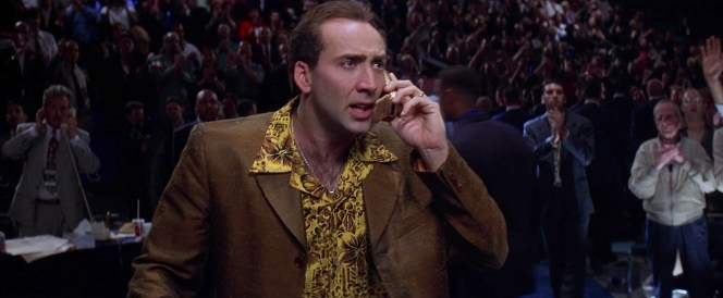 Nicolas Cage as Rick Santoro in Snake Eyes (1998)