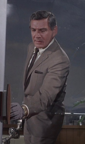 Gene Barry as Dr. Ray Flemming on Prescription: Murder, the TV pilot movie that led to Columbo