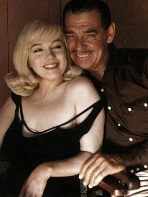 Marilyn Monroe and Clark Gable in The Misfits.