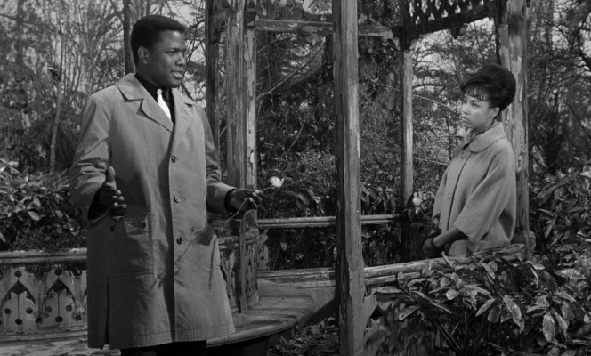 Sidney Poitier and Diahann Carroll in Paris Blues (1961)