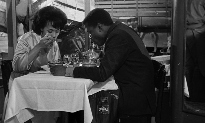Diahann Carroll and Sidney Poitier in Paris Blues (1961)