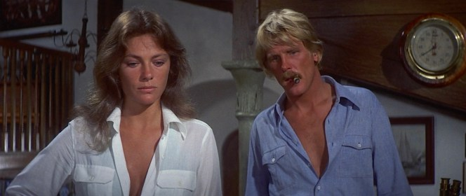 Jacqueline Bisset and Nick Nolte in The Deep (1977)