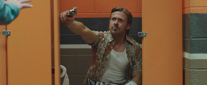 Ryan Gosling as Holland March in The Nice Guys (2016)