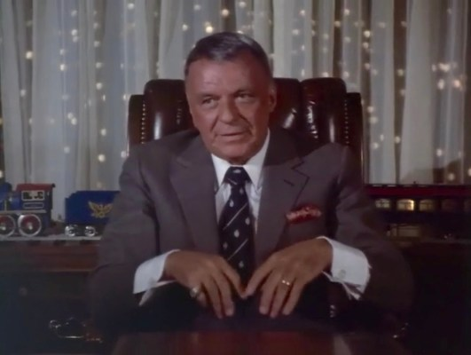 Frank Sinatra in Cannonball Run II (1984)