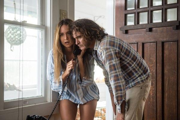 Joaquin Phoenix and Katherine Waterston in Inherent Vice (2014)