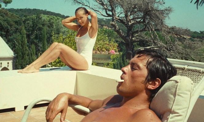 Romy Schneider and Alain Delon in La Piscine (1969)