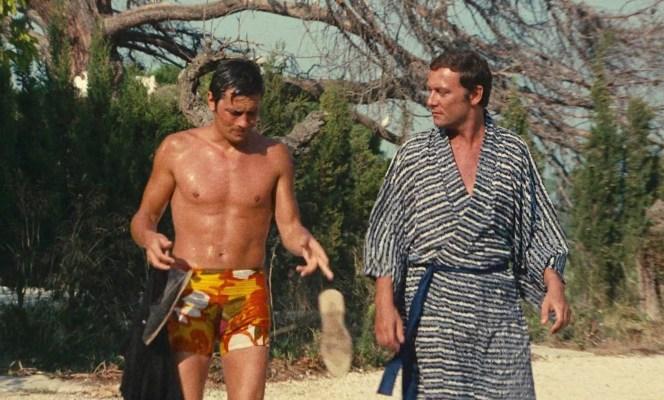 Alain Delon and Maurice Ronet in La Piscine (1969)