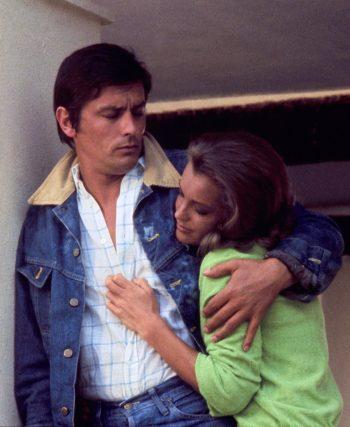 Alain Delon and Romy Schneider in La Piscine (1969)