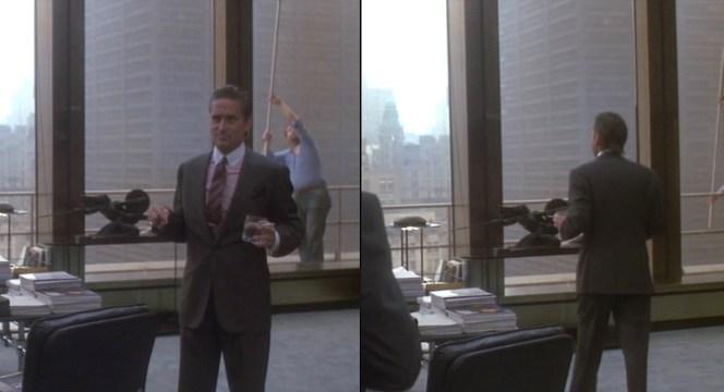 Gordon Gekkos Dark Gray PeakLapel Suit in Wall Street