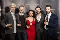 Adam Duff from The National, Ryan Adair from The Merchant, Roisin McErlean from Sweet Afton, Nathaniel McAuey from Muriels Café Bar and Frankie Cosgrove from Sixty6