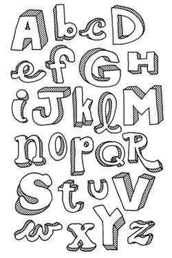 Bubble Letter Ideas : bubble, letter, ideas, Letter, Designs, Ideas, Bubble, Letters,, Lettering, Fonts,