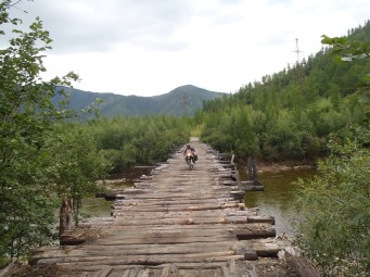 BAM wooden bridge crossing.