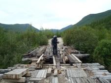 BAM wooden bridge crossing.