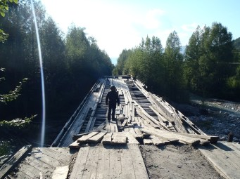 BAM wooden bridge.